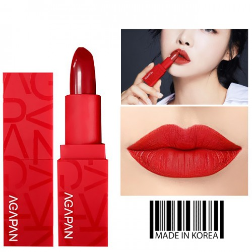 Son Agapan Pit A Pat Matte Lipstick Red Limited Edition