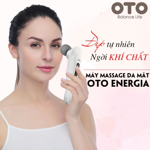 Máy massage mặt chống lão hóa nóng lạnh OTO Energia EG-700 (màu bạc)