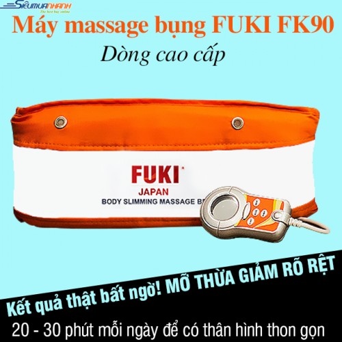 Máy massage bụng FUKI Nhật Bản FK90 (Màu cam) - New 2018