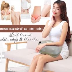 Gối massage hồng ngoại trị liệu đau vai cổ lưng Shiatsu Fuki FK-568