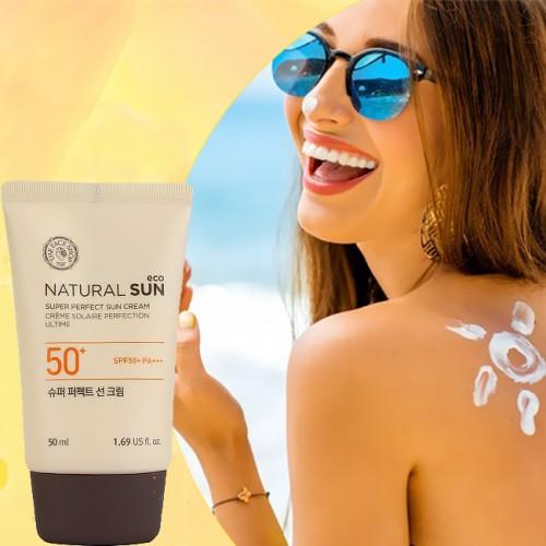 Kem chống nắng THE FACE SHOP Natural Sun Super Perfect Sun Cream